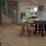Eiken houten visgraat vloer Friesland