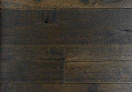 Eiken houten verouderde vloer zwart