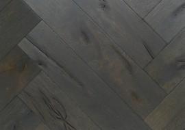 Eiken rustieke visgraat vloer grijs