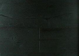 Eiken houten geloogde vloer zwart