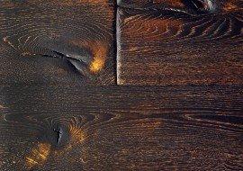 Eiken houten vloer gebrand naturel